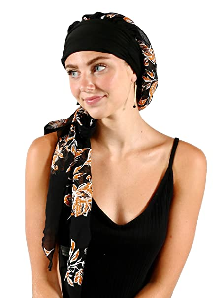 ef96463ea9795 Pretty Simple Headwear Turbans for Women After Chemo Long Hair Head Scarf  Headwraps Cancer Hats for