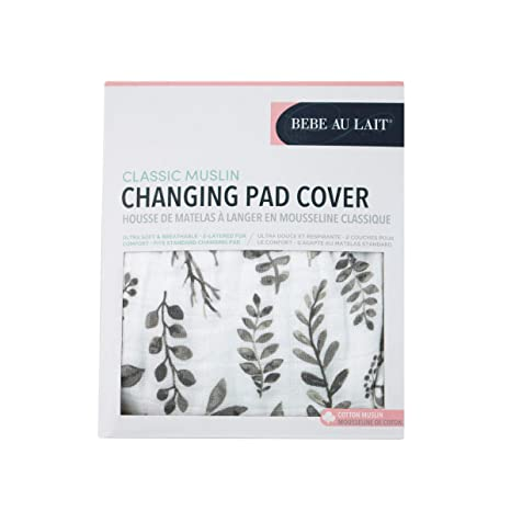 Bebe au Lait Butterfly Bamboo Blend Changing Pad Cover Peach One Size