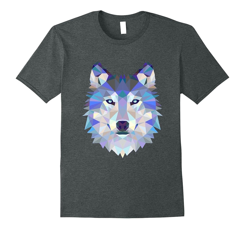 Diamond Pattern Wolf T-Shirt-TH