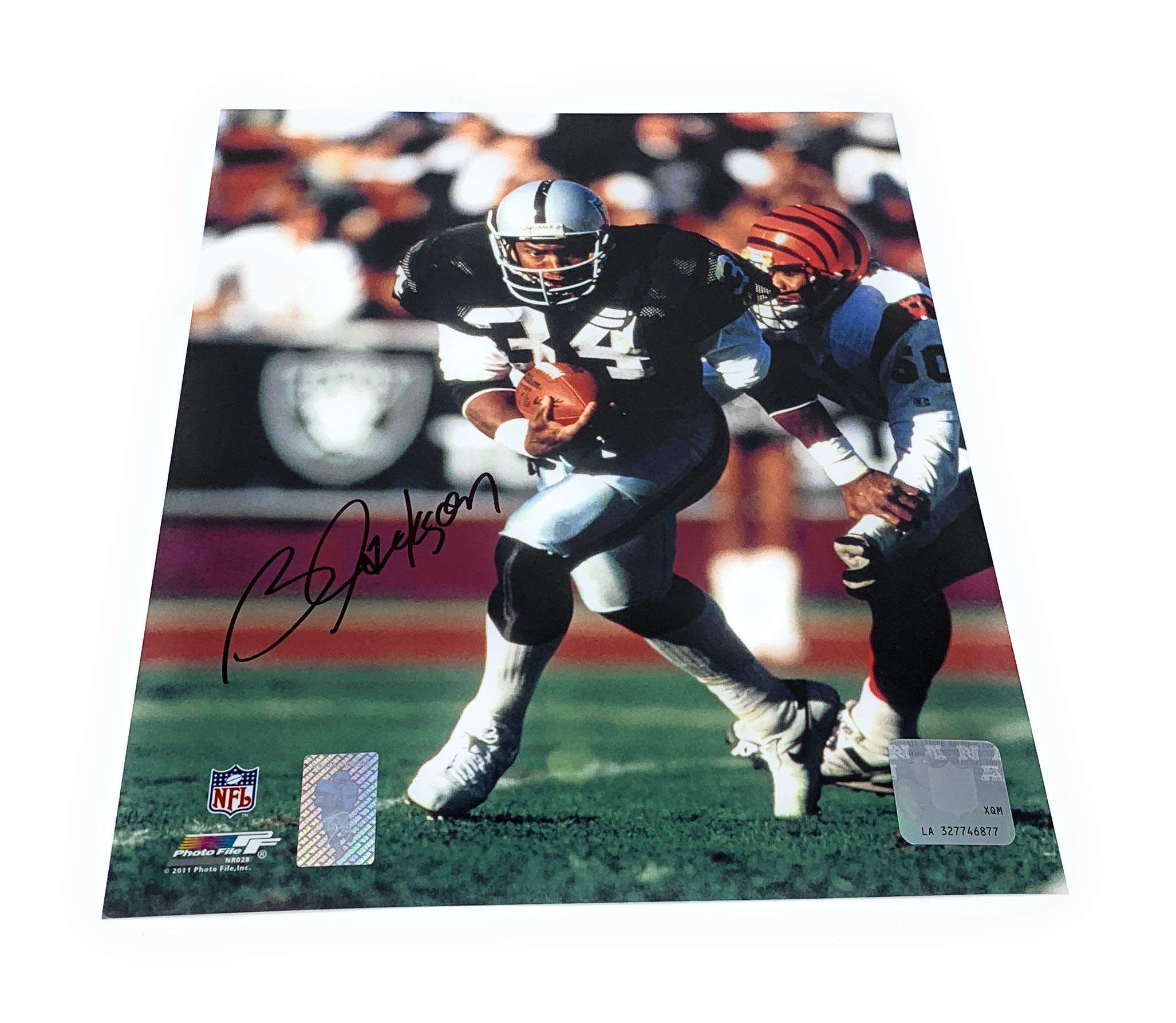 Bo Jackson Oakland Raiders Signed Autograph 8x10 Photo Photograph GTSM Jackson Player Hologram Certified