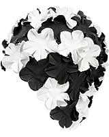 AQUA-SPEED® BLOOM Dames Retro Bonnet de bain (70s Fleurs Caoutchouc Latex)