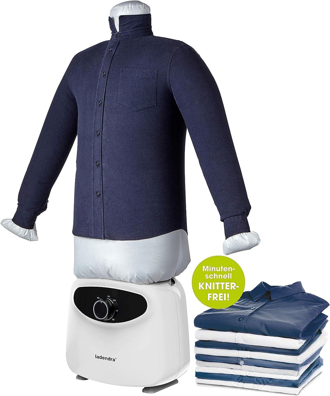 LADENDRA - Plancha de camisas con maniquí 2 en 1 - Máquina de planchar para camisas y blusas