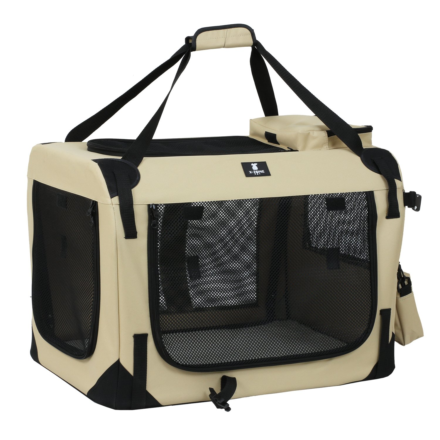 X-ZONE PET 3-Door Folding Soft Dog Crate, Indoor & Outdoor Pet Home, Multiple Sizes and Colors Available by X-ZONE PET (Image #1)