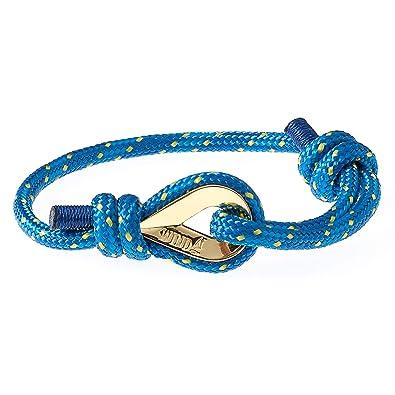 583edb9487dd Wind Passion Cuerda Trenzada Nautica Pulsera Azul Hombre  Amazon.es  Joyería