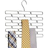 mDesign cintre porte-cravates – cintre multiple pour au moins 23 cravates – accessoire de dressing pratique – argenté