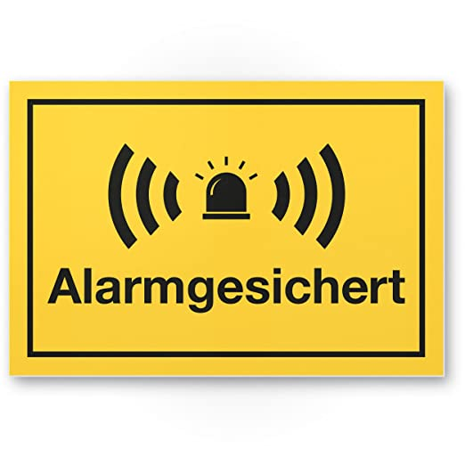 Alarma gesic Hert Cartel (Amarillo 30 x 20 cm) - Atención ...