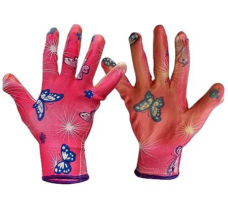 TIED RIBBONS Pair of Resuable Garden Gloves for Men Women (Rubber, Multicolor)