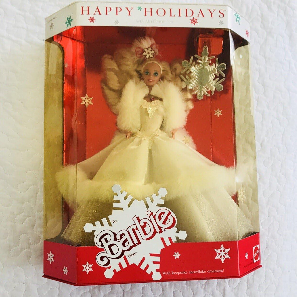 Happy Holidays Barbie 1989 by Barbie: Amazon.it: Giochi e giocattoli