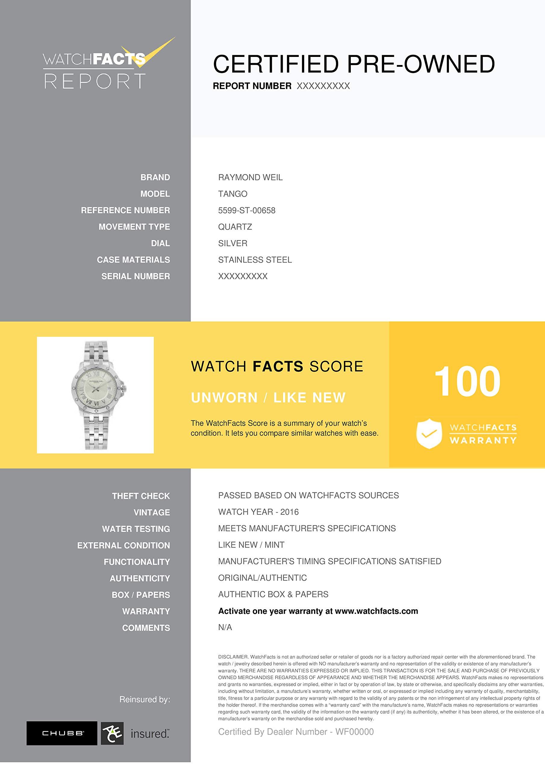 Raymond Weil Tango Quartz Male Watch 5599-ST-00658 (Certified Pre-Owned) by RAYMOND WEIL (Image #6)