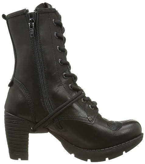 New Rock M Tr052 S1 - Botas de Motorista de Media Pantorrilla Mujer   Amazon.es  Zapatos y complementos a1d08c0a6941
