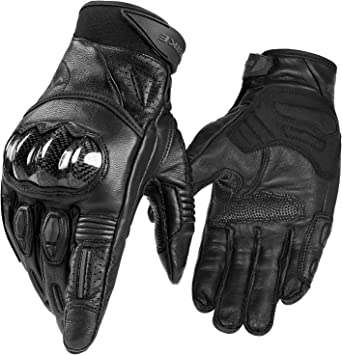 Hot Guantes Fashion real Leather Full Finger Black moto men Motorcycle Gloves