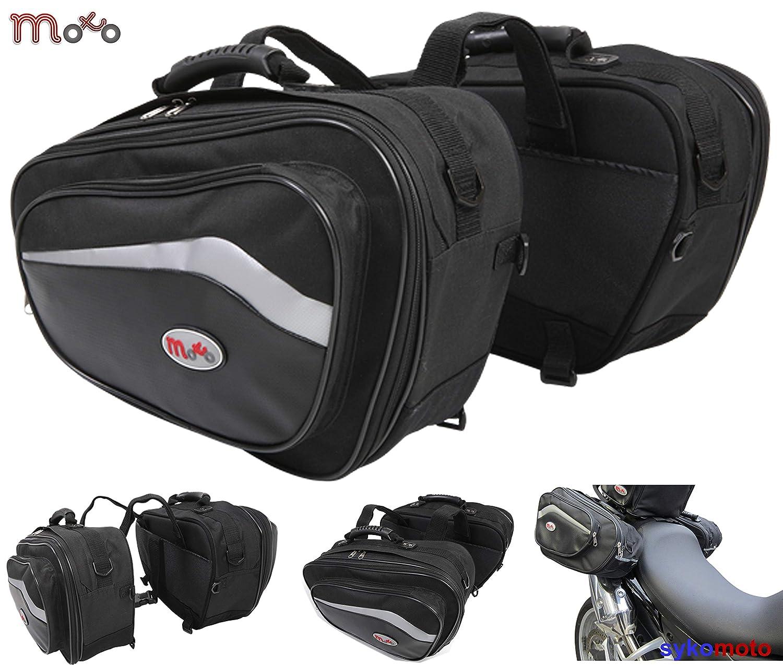 Borse laterali in stile sportivo per moto, con capienza da 44 a 60 L, Pannier moto universale MOTOHART