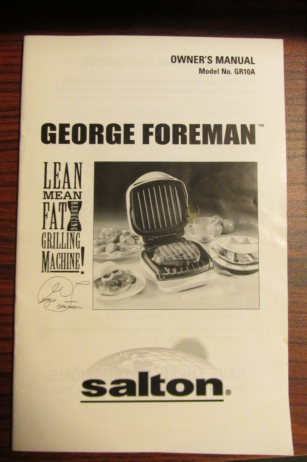 George Foreman's Lean Mean Fat Grilling Machine! Owner's Manual Model No.  GR10A: Amazon.com: Books