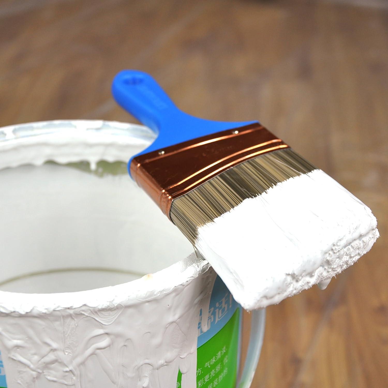 6/pi/èces Lot de pinceaux de peinture Peinture Brosse Angle Sash court de coupe Brosse de peinture Peinture /à la craie Brosse