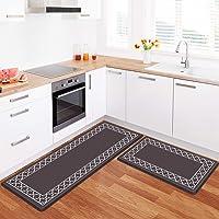 wine and grapes Kitchen Mat Non-slip Kitchen Rug 44x75cm Anti Fatigue Kitchen Floor Mat Waterproof PVC Cushioned Standing Mat