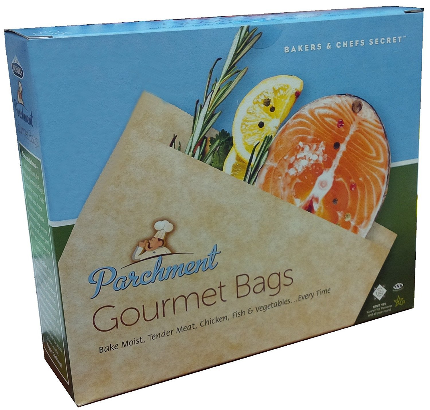 Best Quality Parchment Bags for cooking/Parchment Gourmet Cooking Bag, 12 Bags Per Pack Palisades NA
