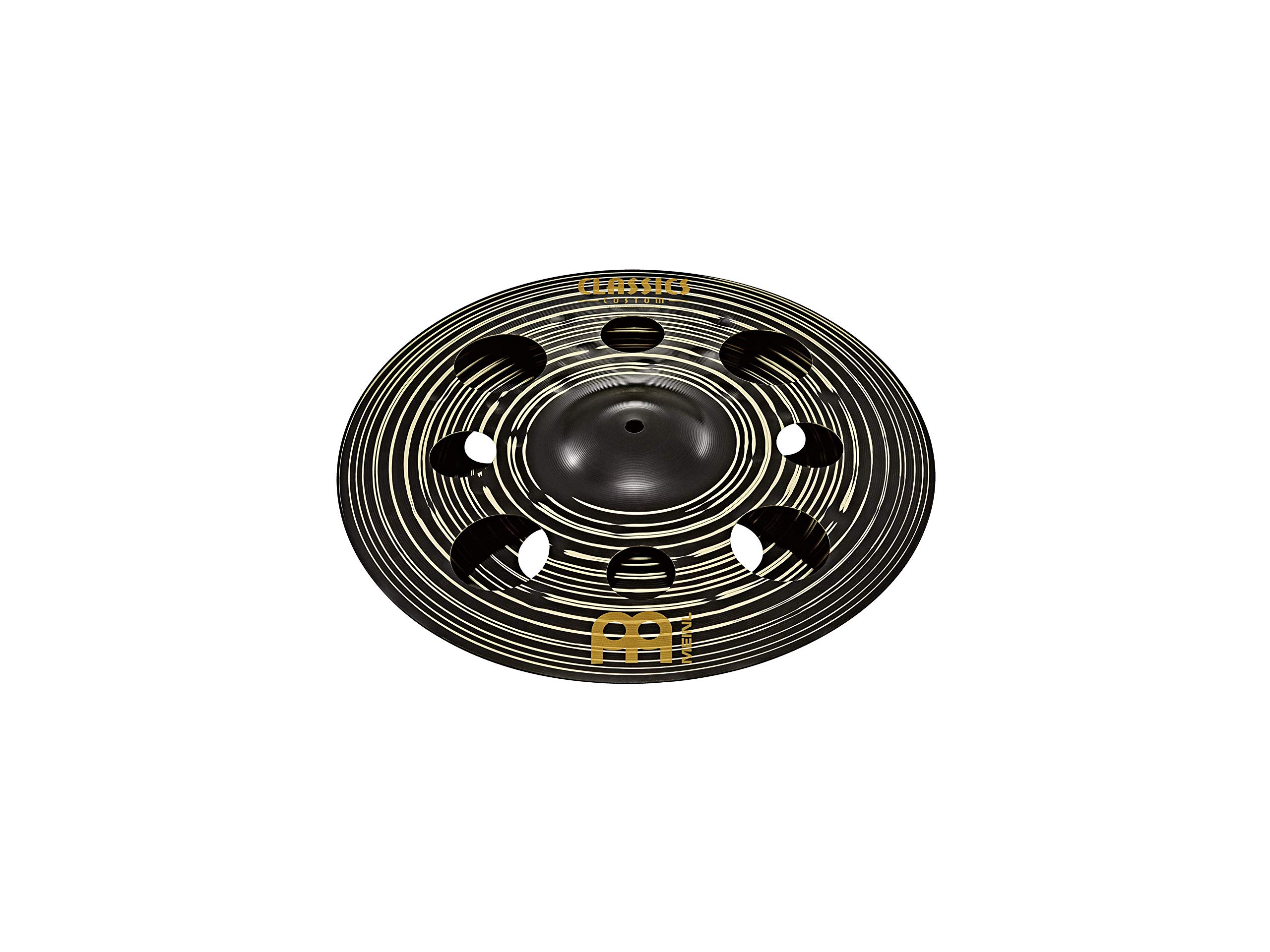Meinl Cymbals 12'' Trash Stack Cymbal Pair with Holes - Classics Custom Dark - MADE IN GERMANY, 2-YEAR WARRANTY (CC-12DASTK) by Meinl Cymbals