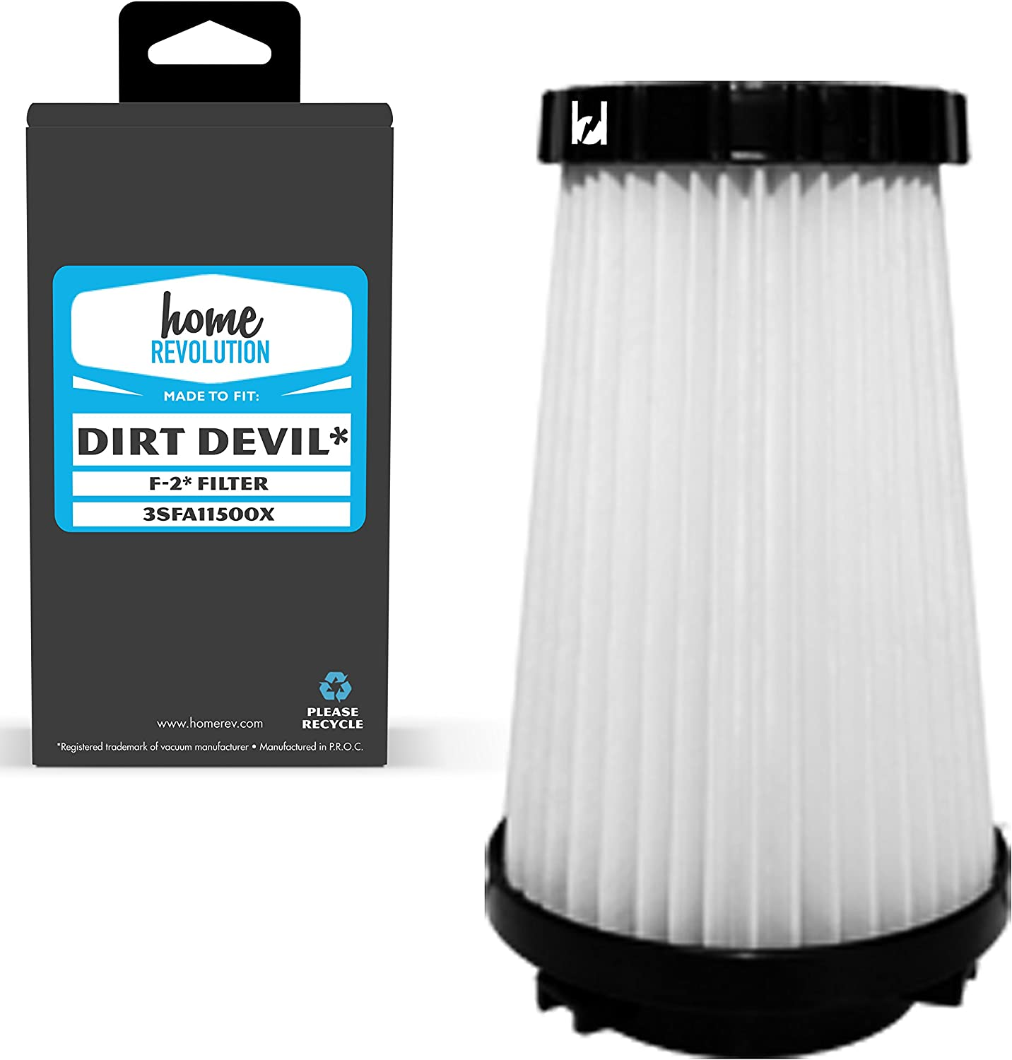 Home Revolution Replacement HEPA Filter, Fits Dirt Devil M084600, 084200, JM084100, 08240 & 08245 Vacuum Models and Part 3SFA11500X & 3-F5A115-00X