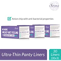 Sirona Ultra Thin Premium Regular Panty Liners - 90 Pieces (3 Pack - 30 Pieces Each)