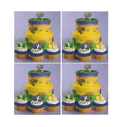 Amazon.com: Mardi Gras King Cake Baby Cupcake Toppers - 12 pcs ...