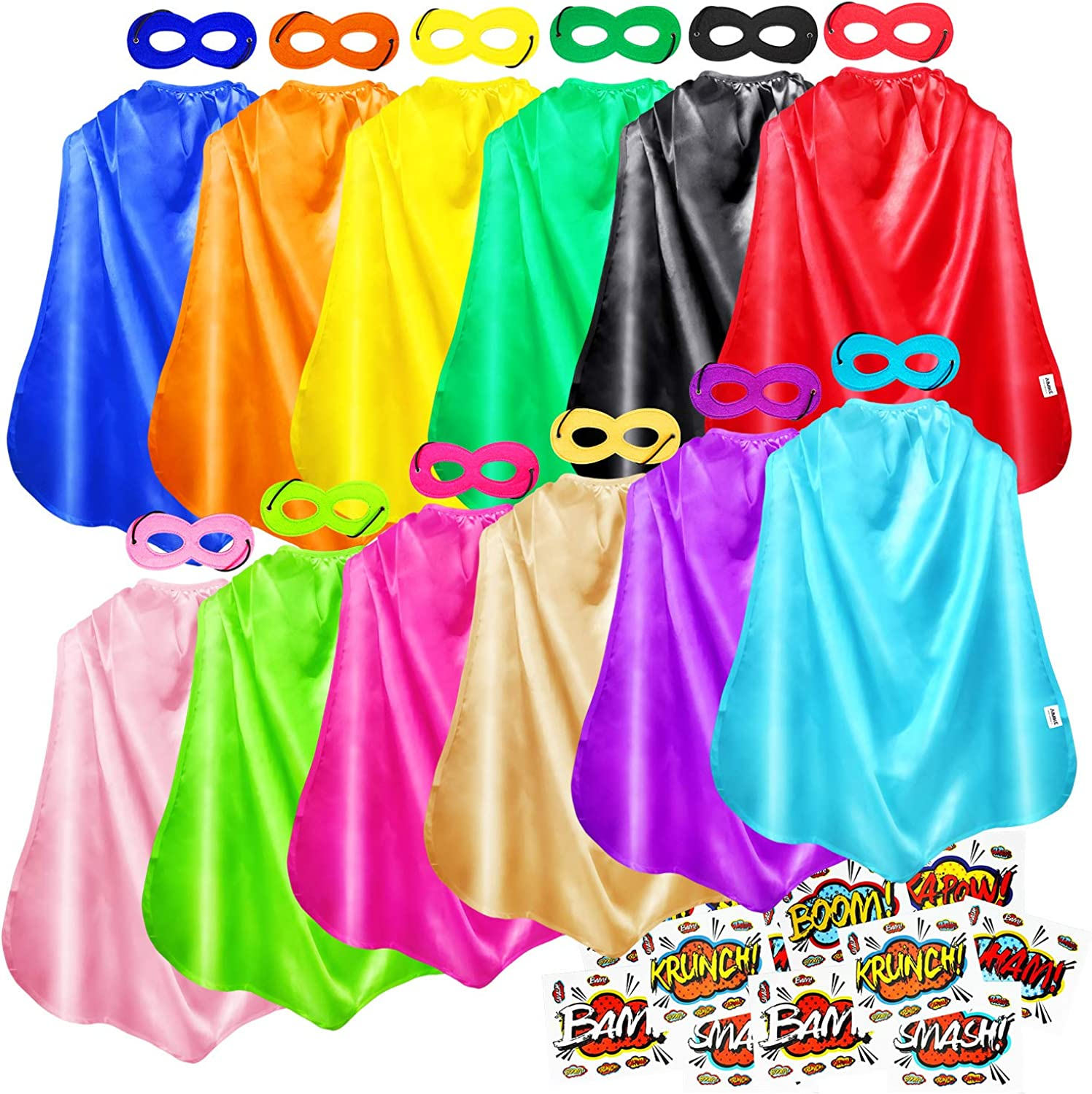 Superhero Capes, Bulk Pack for Kids Party