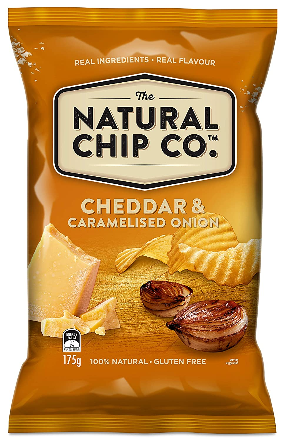 Natural Chips Cheddar & Onion 175g Snack Brands