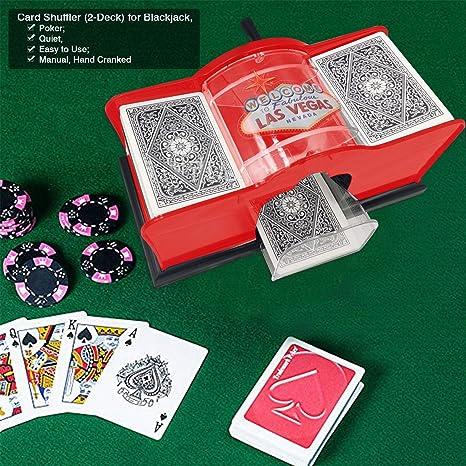 Deck Card Shuffler Playing Card Shuffler Manual Card Shuffler 2 Deck For Blackjack Poker Quiet Easy To Use Manual Hand Cranked Cards Not Included Card Shufflers Amazon Canada