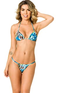 5ea78b98bdc44 THE MESH KING Coqueta Swimwear Women Sexy G-String Teeny Mini Brazilian  Bikini Thong Swimsuit