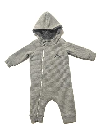 c713c2aed Image Unavailable. Image not available for. Color: Jordan Infant Boys  Hooded Fleece Lined Coverall ...