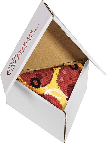 Pizza Socks Box Slice Pepperoni - Mujer Hombre - 1 par de Calcetines: Amazon.es: Ropa y accesorios