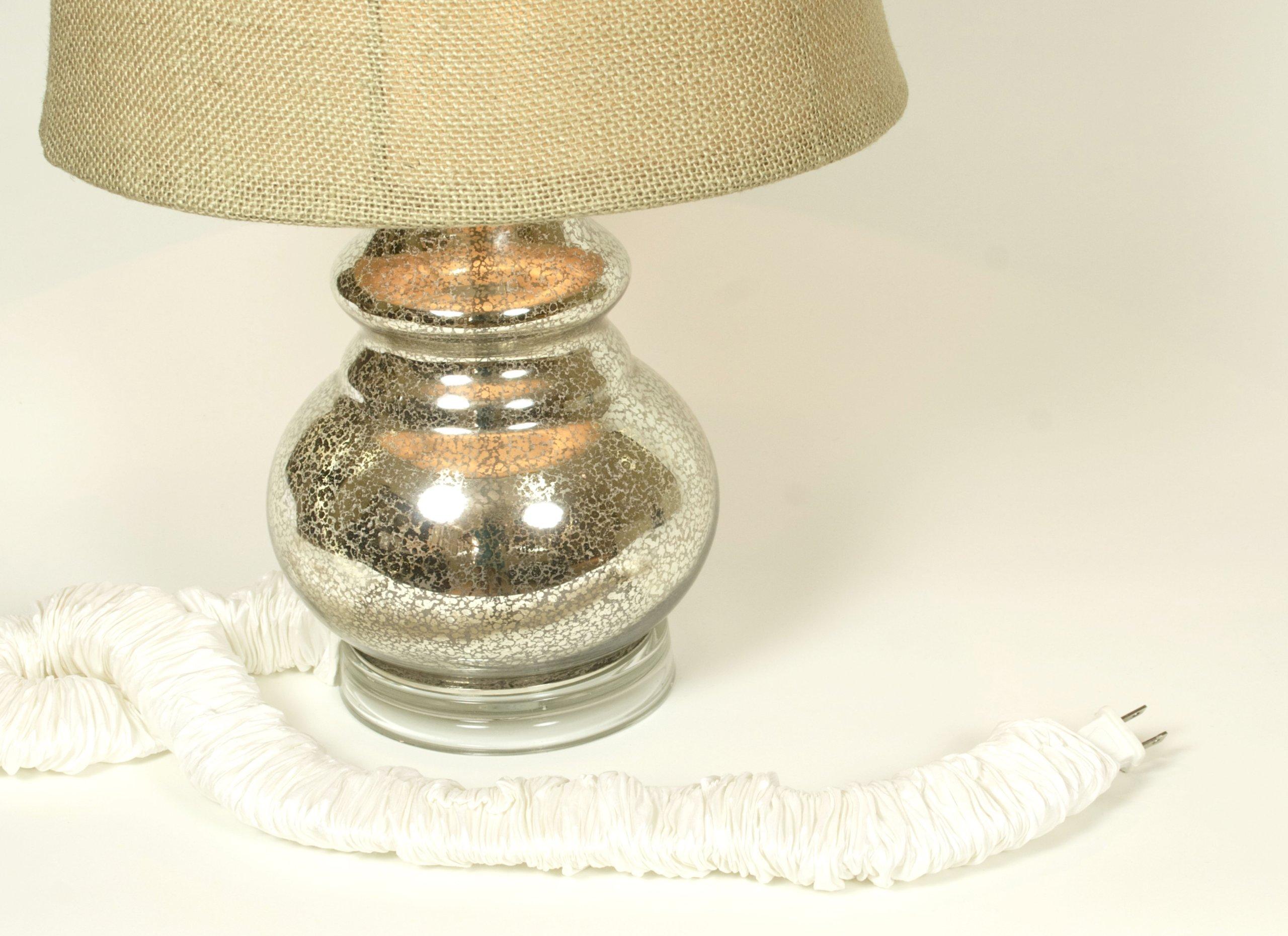 Pearl Silk Lamp Cord Cover 9 ft long 100% REAL SILK