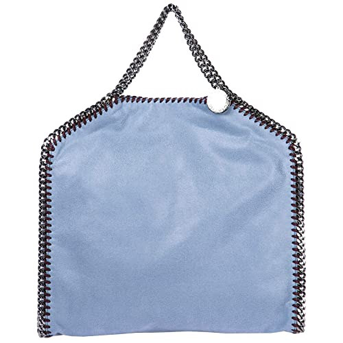 Stella McCartney borsa a mano Falabella Fold Over donna blu  Amazon.it   Scarpe e borse 44e7c157f27