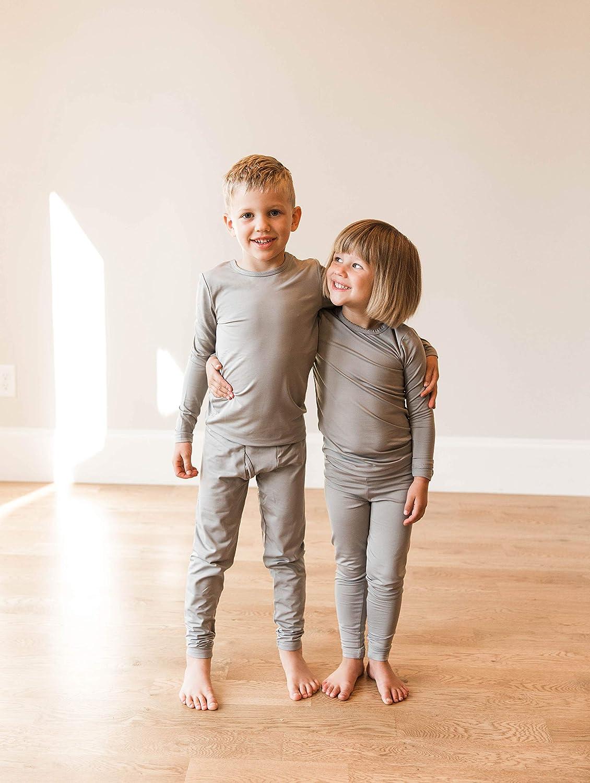 Kids Long Sleeve Shirt and Pants Underwear POPINJAY Boys Fleece Thermal Set