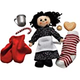 Little House On The Prairie 8 Pc Christmas Accessory Play Set Size for 18 inch American Girl Dolls. Includes Items from The Books: Stocking. Doll, Penny, Cookie, Candy Cane, Tin Cup, Mittens