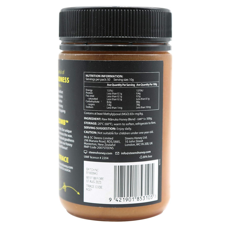 Steens Beekeeper 5+ Active Manuka Honey 500 g