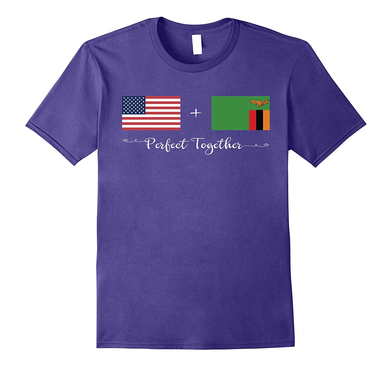 American + Zambian Perfect Together Flag T-Shirt-Art