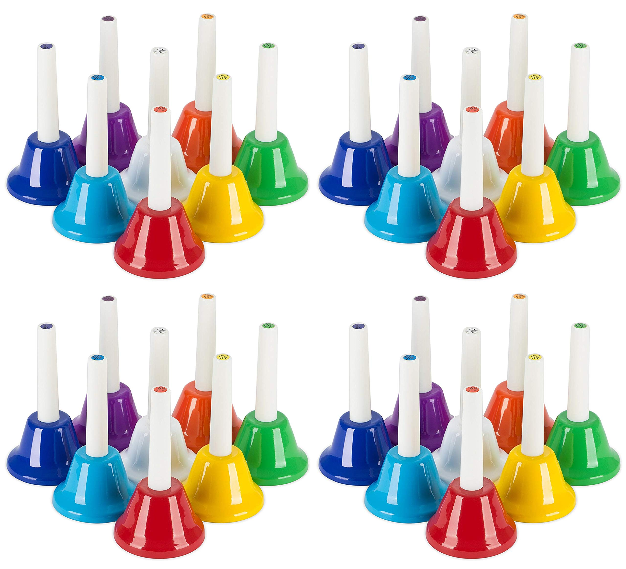 Jade Active Premium Handbell Set - 4 PCS - Musical Bells for Children - Musical Learning at an Early Age