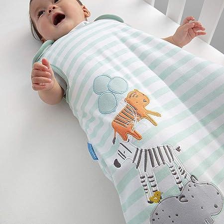 The Gro Company - Saco de dormir para bebé con motivos de animales de la selva azul Talla:6-18 Months