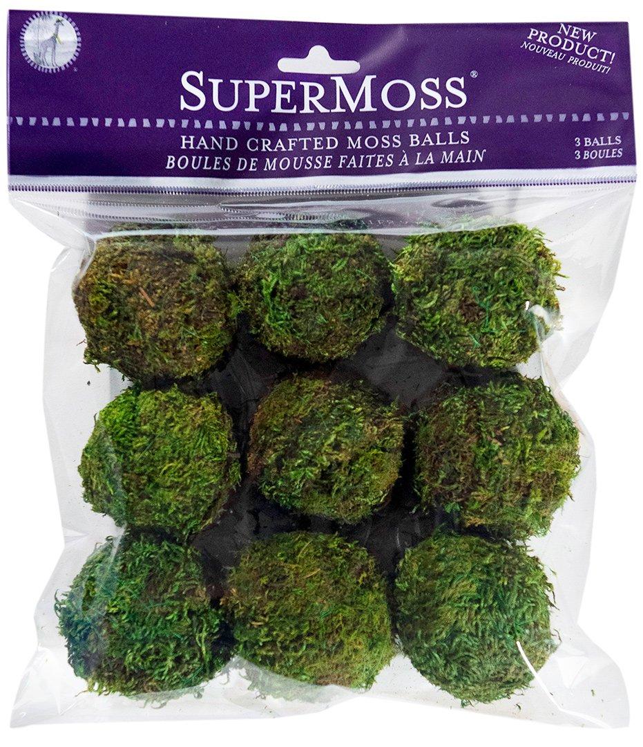 SuperMoss (21769) Moss Balls, Fresh Green, 2'' (9 pack) by Super Moss