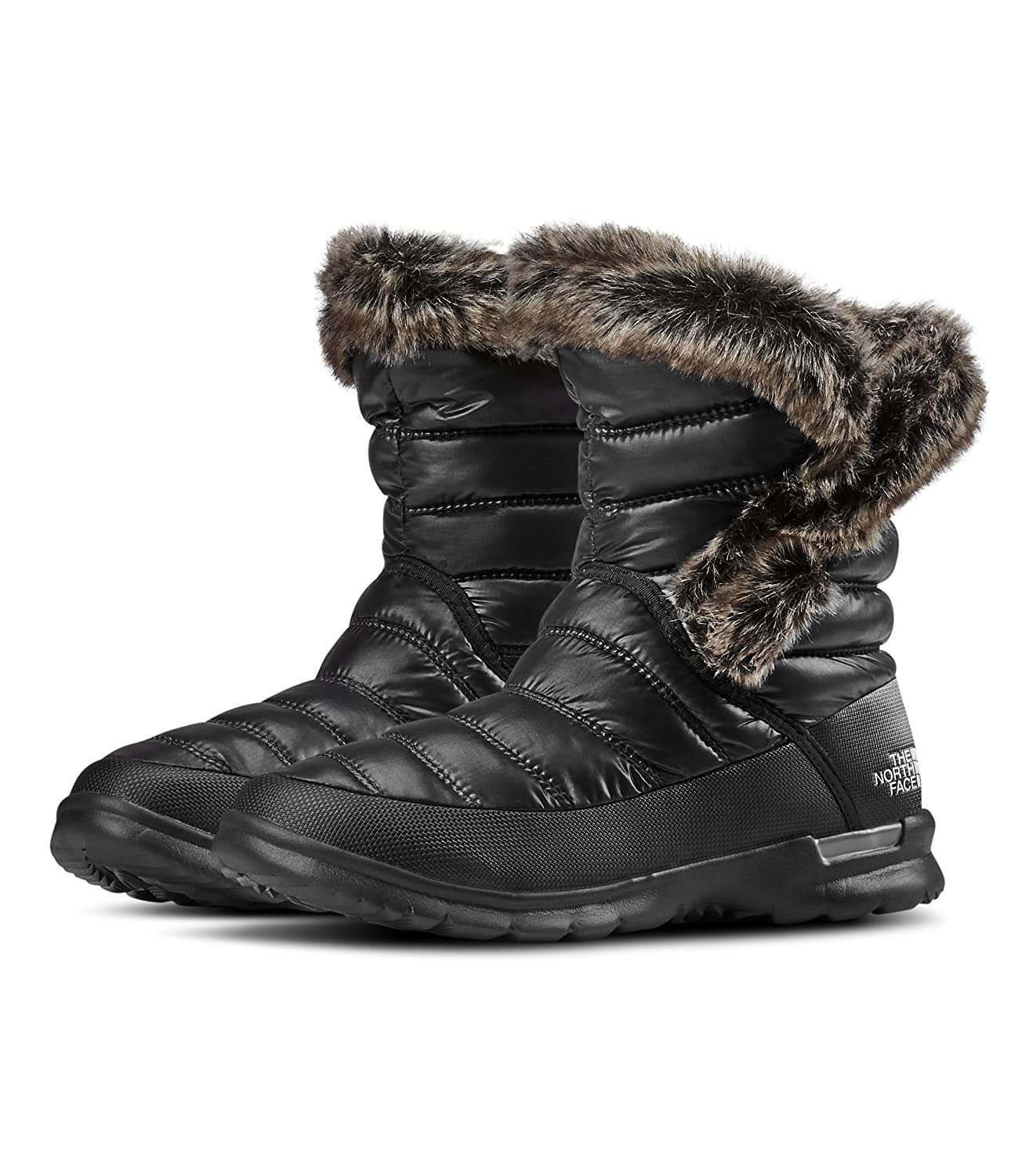 The North Face Womens Thermoball Microbaffle Bootie II B0195K74BI 11|Shiny Tnf Black & Smoked Pearl Grey
