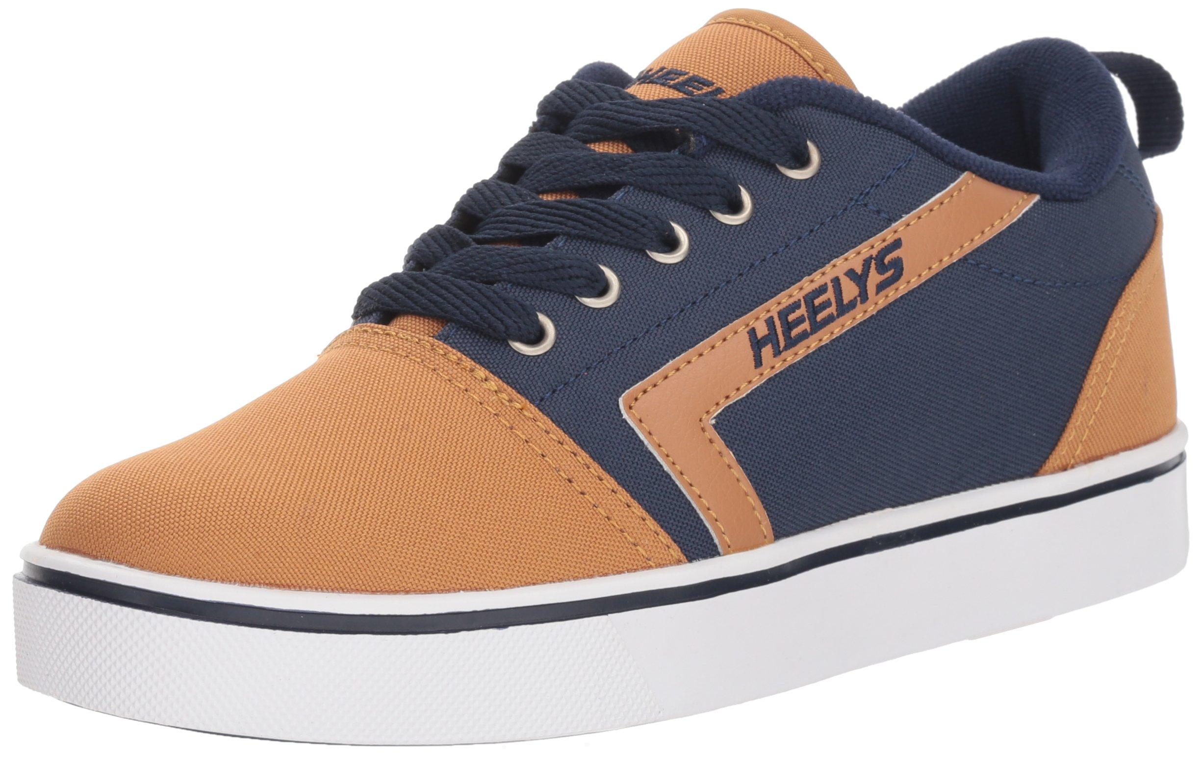 Heelys Boys' GR8 Pro Tennis Shoe Navy/Cashew 1 Medium US Big Kid