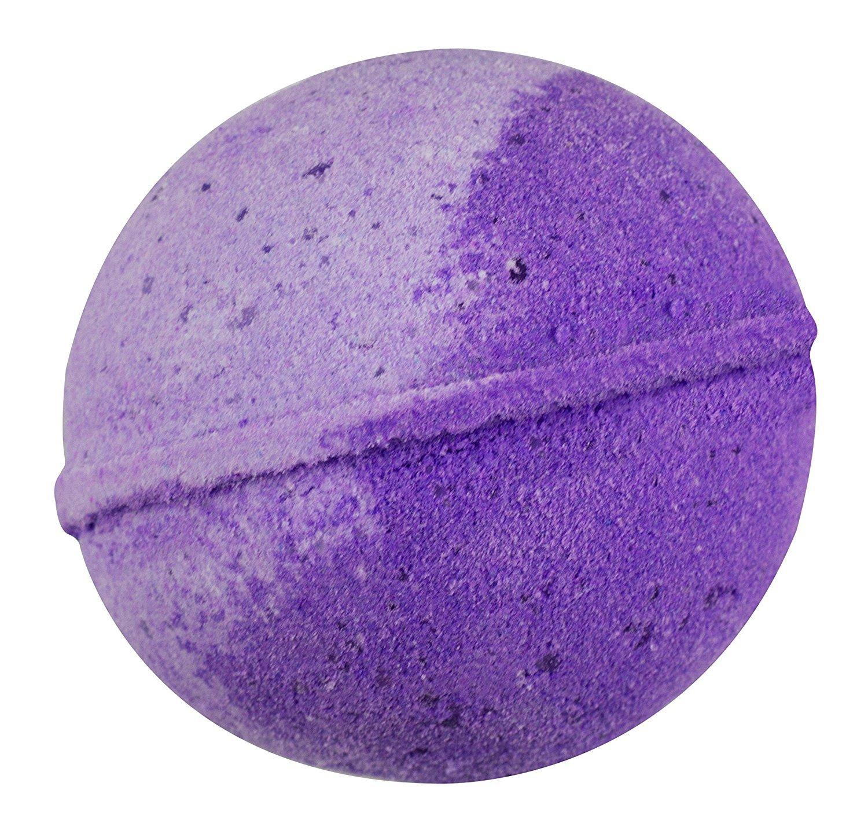 Sense Sation Lavender Bath Bomb USA Handmade Ultra Lush Spa Bath Fizzies 4.5 oz. Organic Essential Oil, Fizzy & Colorful, Aromatherapy & Moisturizing, Vegan & Gluten Free Gift Idea