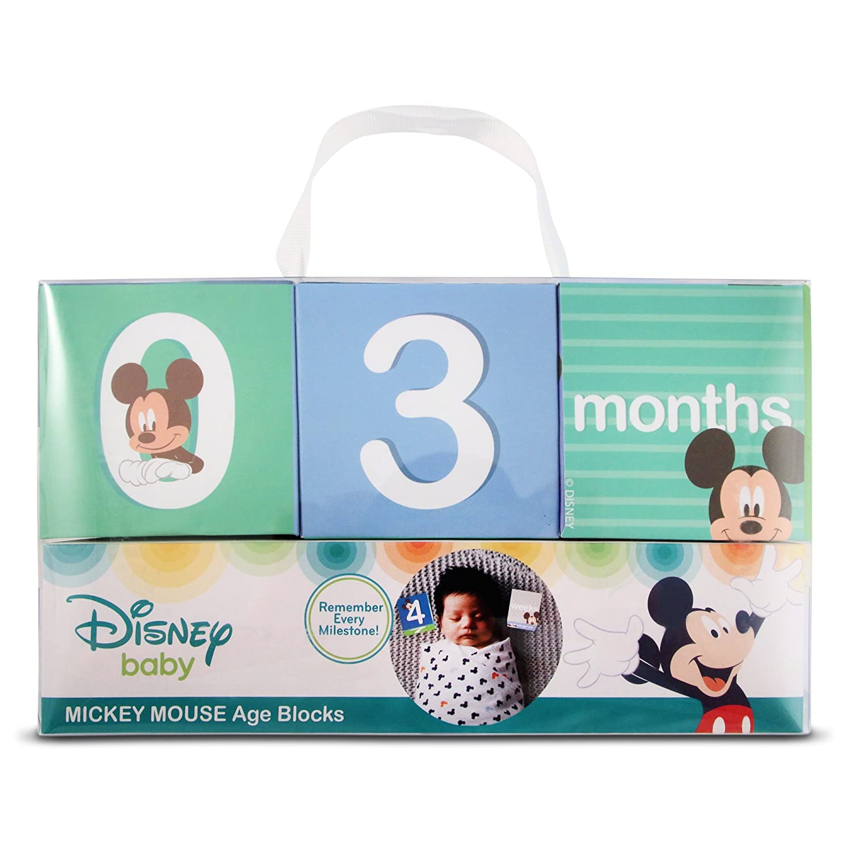 Amazon.com: Disney bebé niños Mickey Mouse mensual Milestone ...