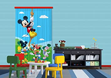 Amazon.de: Gardine/Vorhang FCC L 4106 Kinderzimmer Disney Mickey Mouse