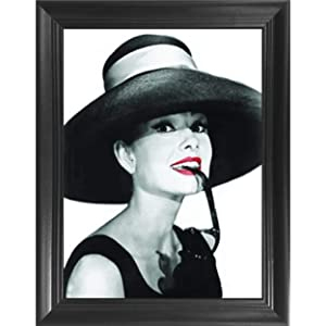 Audrey Hepburn Breakfast at Tiffanys 3D Poster Wall Art Decor Framed Print | 14.5x18.5 | Lenticular Posters & Pictures | Memorabilia Gifts for Guys & Girls Bedroom | Vintage Icon Movie Artwork Photo