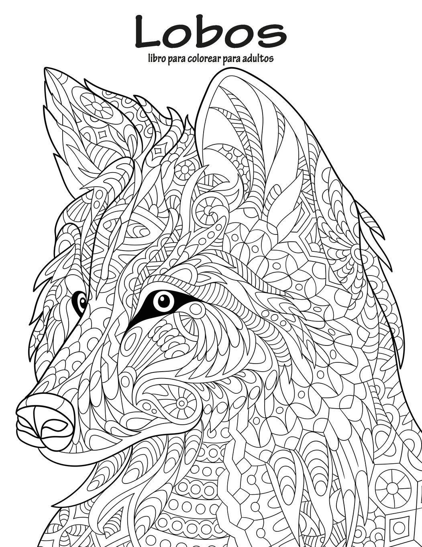 Lobos libro para colorear para adultos 1: Volume 1: Amazon.es: Nick ...
