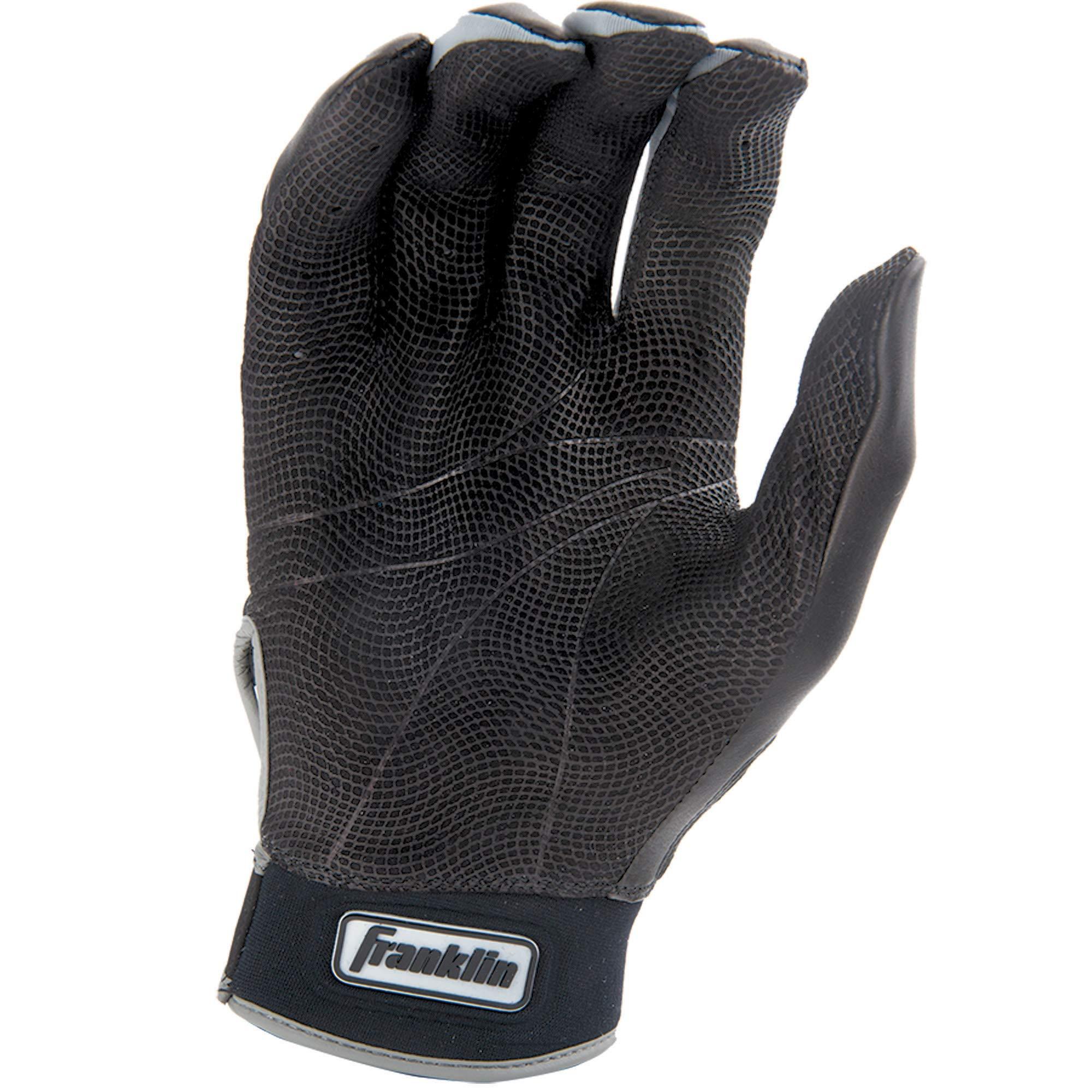 Franklin Sports MLB CFX Pro Batting Gloves, Black/Black (2015) by Franklin Sports (Image #4)