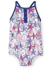 Hatley Cross Back Swimsuits, Traje de baño de una Pieza para Niñas