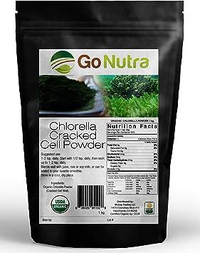 Go Nutra Polvo orgánica de células agrietadas puro (Chlorella) al ...