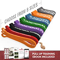 Rubberbanditz Pull Up Assistance Resistance Exercise Bands - by Functional Fitness | Loop Workout Bands for Stretching, Powerlifting